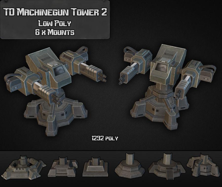 Torre de ametralladoras TD 02 royalty-free modelo 3d - Preview no. 6
