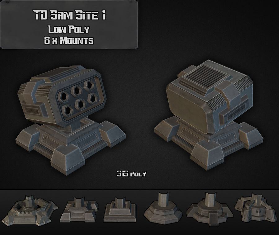 TD Sam Site 01 royalty-free modelo 3d - Preview no. 2