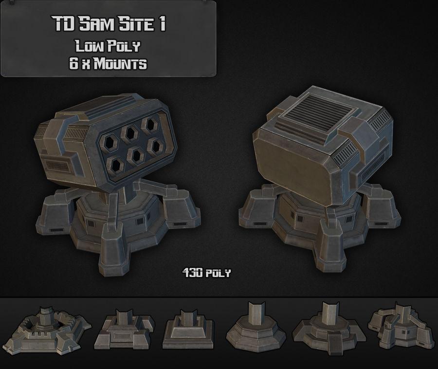 TD Sam Site 01 royalty-free modelo 3d - Preview no. 6
