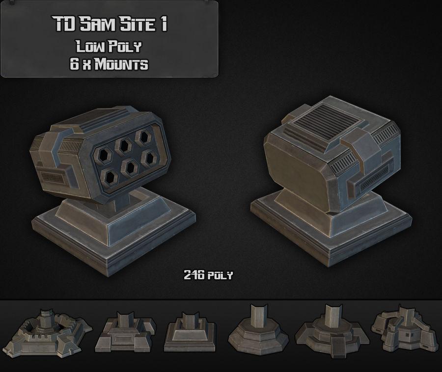 TD Sam Site 01 royalty-free modelo 3d - Preview no. 3