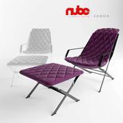 Chaise longue NUBE Samoa 3d model