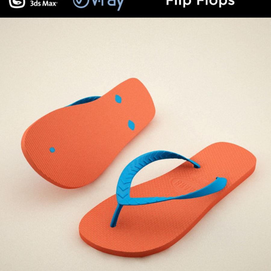 Flip Flops royalty-free 3d model - Preview no. 1