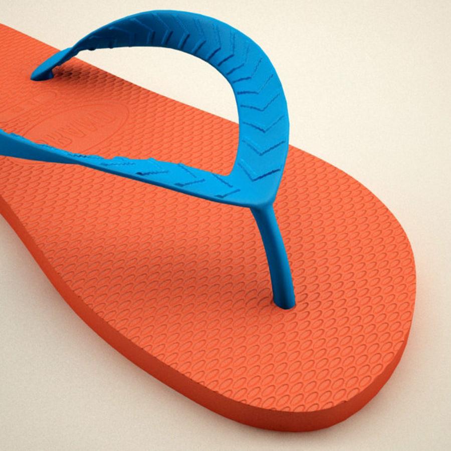 Flip Flops royalty-free 3d model - Preview no. 7