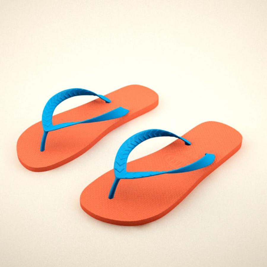 Flip Flops royalty-free 3d model - Preview no. 4