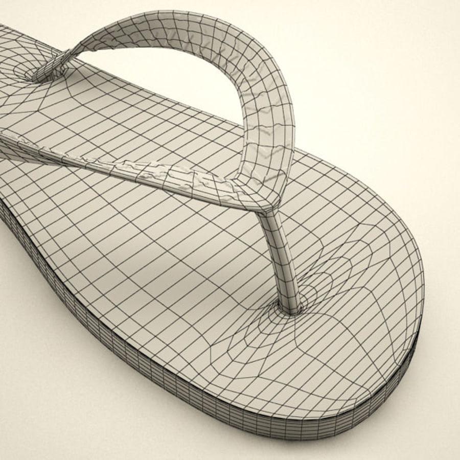 Flip Flops royalty-free 3d model - Preview no. 8