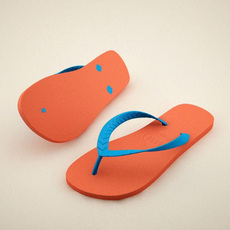 Flip Flops royalty-free 3d model - Preview no. 2