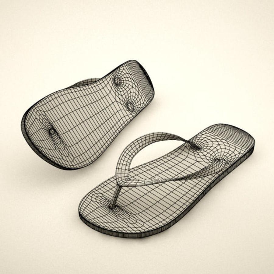 Flip Flops royalty-free 3d model - Preview no. 3