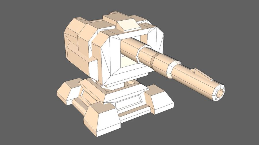 Torre TD Cannon 01 royalty-free modelo 3d - Preview no. 8