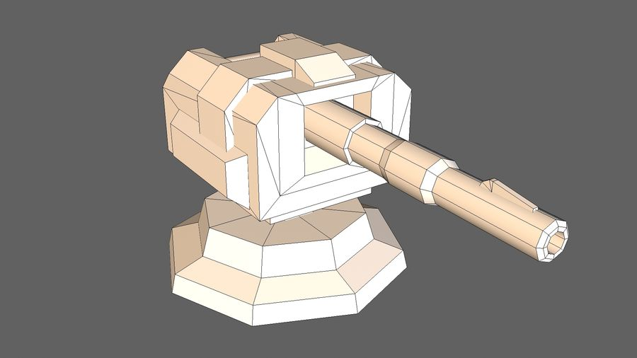 Torre TD Cannon 01 royalty-free modelo 3d - Preview no. 10