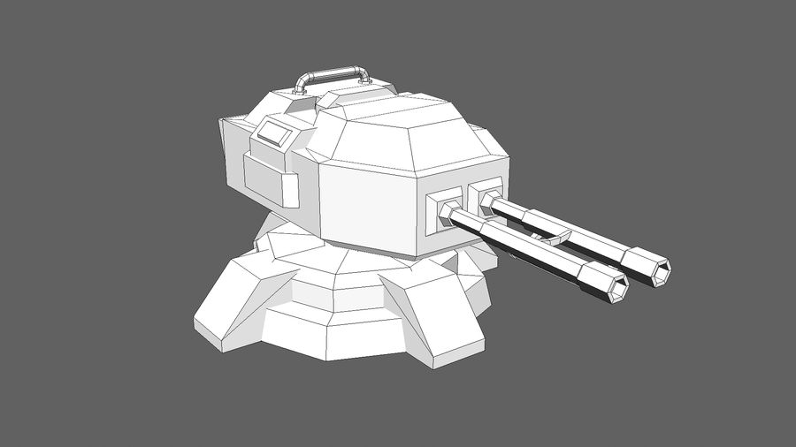 TD Cannon Tower 02 royalty-free modelo 3d - Preview no. 11