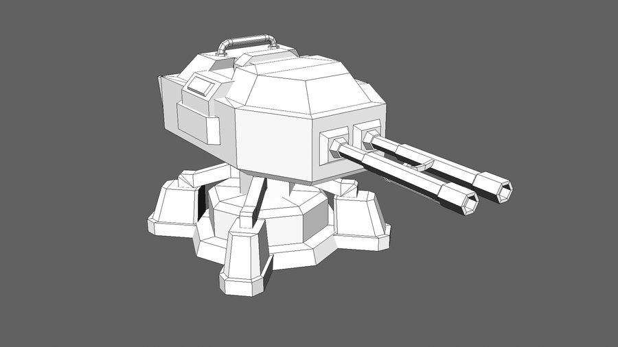 TD Cannon Tower 02 royalty-free modelo 3d - Preview no. 12