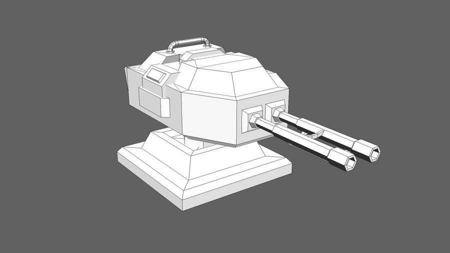 TD Cannon Tower 02 royalty-free modelo 3d - Preview no. 9