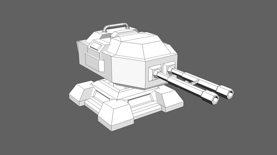 TD Cannon Tower 02 royalty-free modelo 3d - Preview no. 8
