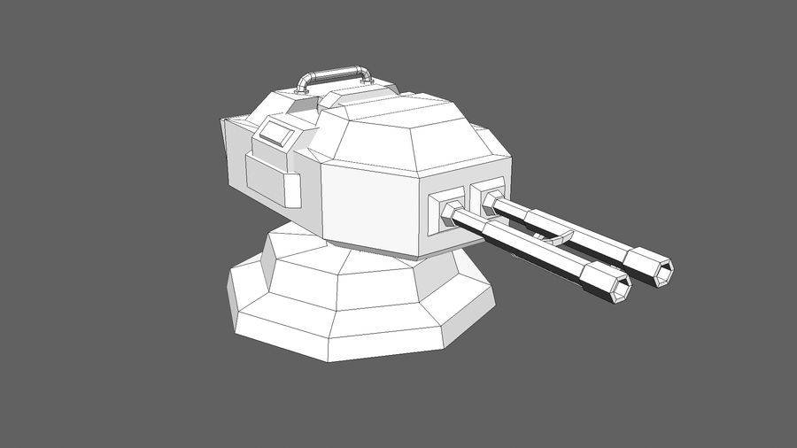 TD Cannon Tower 02 royalty-free modelo 3d - Preview no. 10