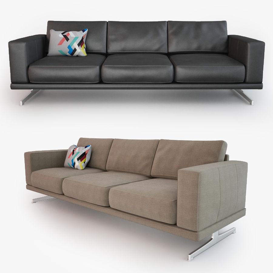 BoConcept Carlton Sofa royalty-free modelo 3d - Preview no. 1