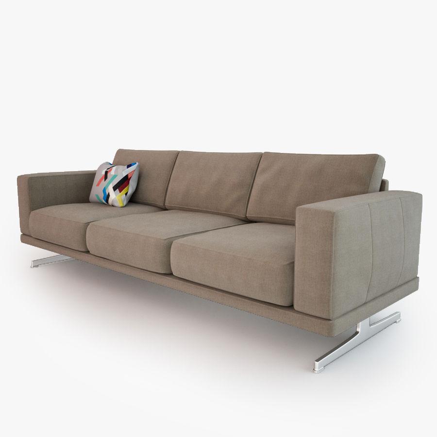 BoConcept Carlton Sofa royalty-free modelo 3d - Preview no. 3