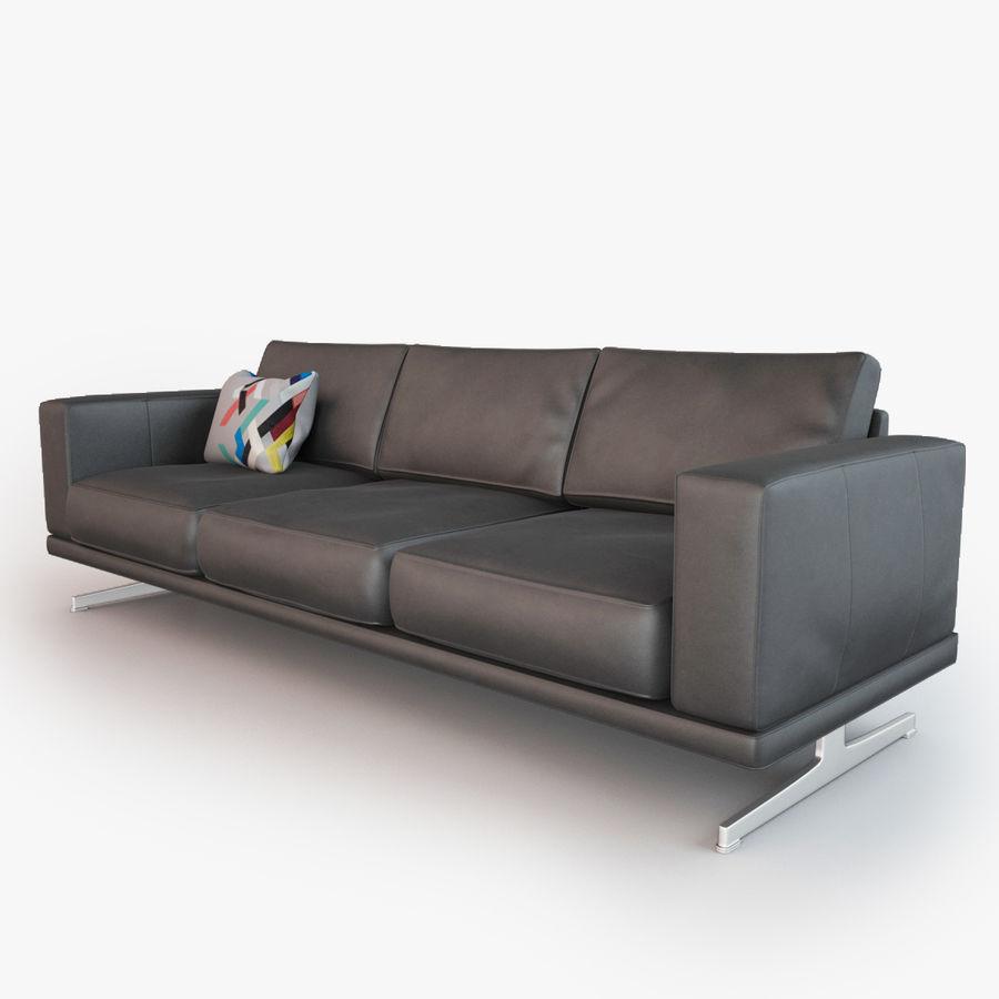 BoConcept Carlton Sofa royalty-free modelo 3d - Preview no. 4