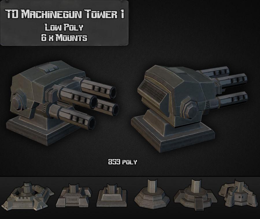 Torre de ametralladoras TD 01 royalty-free modelo 3d - Preview no. 3
