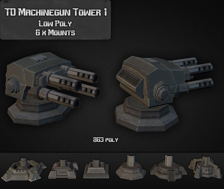 Torre de ametralladoras TD 01 royalty-free modelo 3d - Preview no. 4