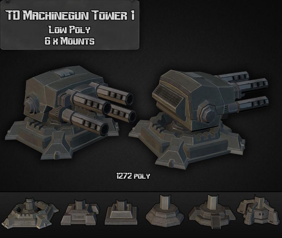 Torre de ametralladoras TD 01 royalty-free modelo 3d - Preview no. 1