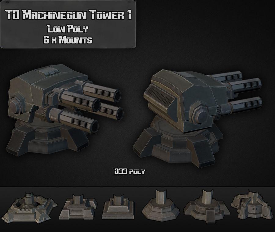 Torre de ametralladoras TD 01 royalty-free modelo 3d - Preview no. 5