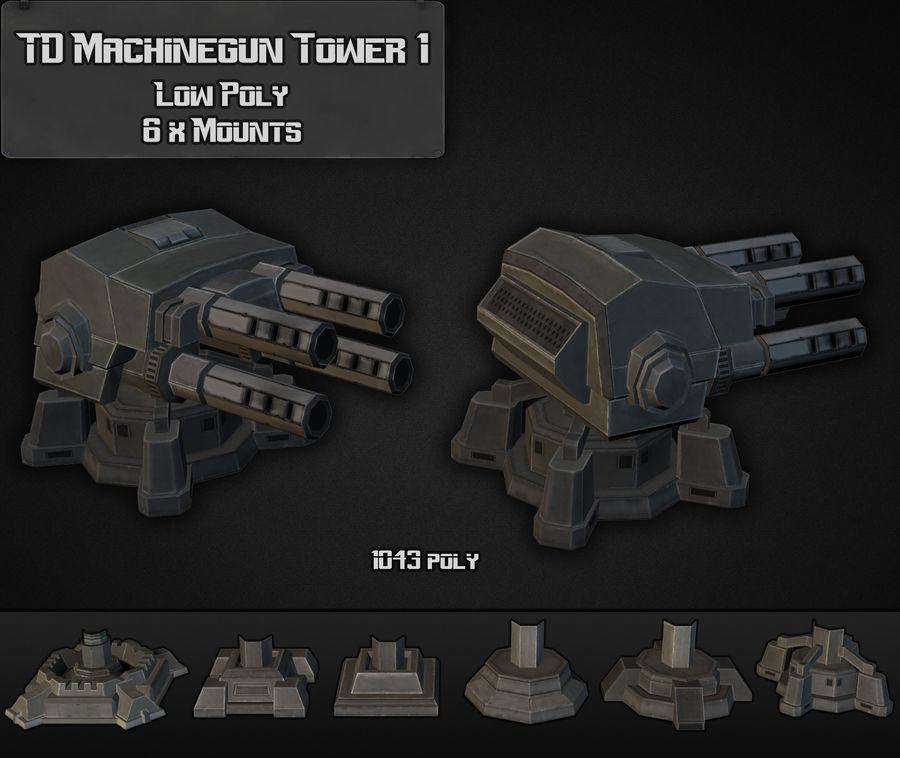 Torre de ametralladoras TD 01 royalty-free modelo 3d - Preview no. 6