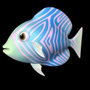 Royal Blue Fish 3d model