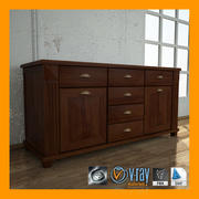 Classic Cabinet 01 3d model