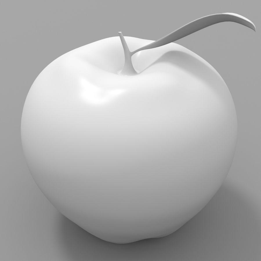Manzana de frutas royalty-free modelo 3d - Preview no. 6