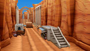 Cañón del desierto modelo 3d