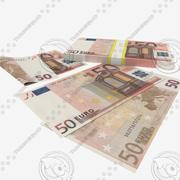 50 Fifty Euro Banknote 3d model