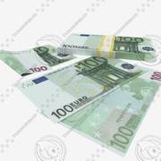 100 Yüz Euro Banknot 3d model