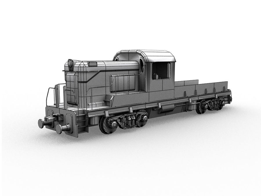 Locomotive royalty-free 3d model - Preview no. 7