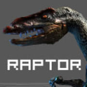Raptor 3d dino Low Poly 3d model