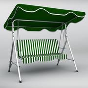 Siège de canapé balançoire de jardin 3d model