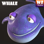 Cartoon walvis 3d model