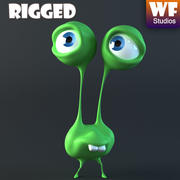 Cartoon Character - Alien 3d model