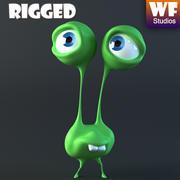 Cartoon Character - Alien 3d model