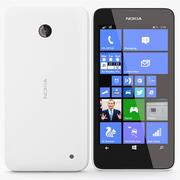 Nokia Lumia 630 635 Branco 3d model