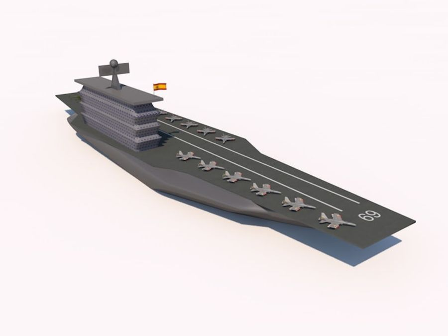 TURBOSPAIN AIRCRAFT CARRIER royalty-free 3d model - Preview no. 2