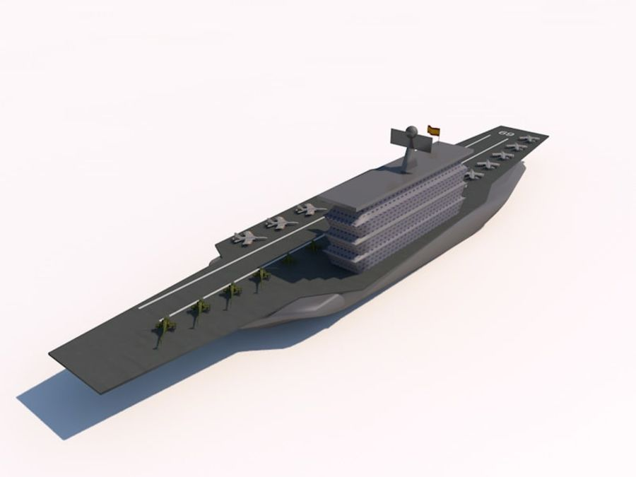 TURBOSPAIN AIRCRAFT CARRIER royalty-free 3d model - Preview no. 3