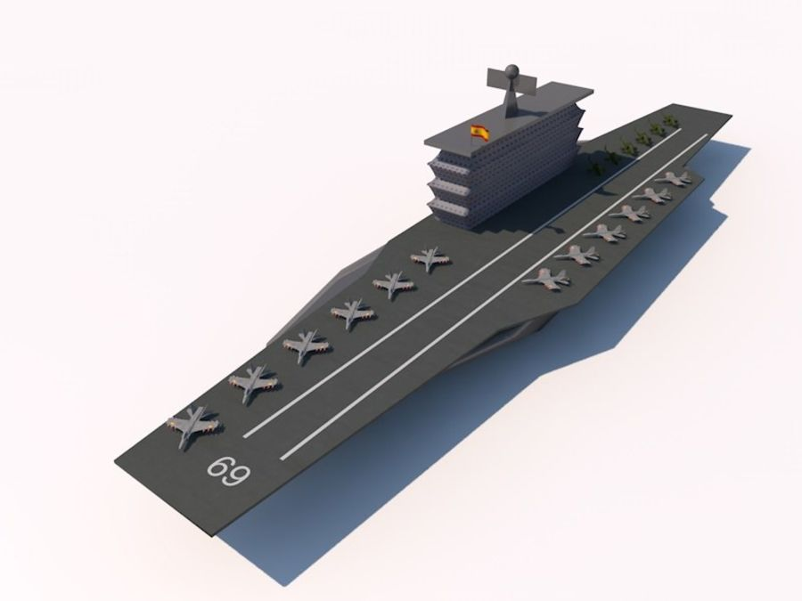 TURBOSPAIN AIRCRAFT CARRIER royalty-free 3d model - Preview no. 1