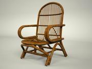简易藤制椅子 3d model