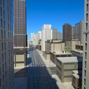 Большой город 04 3d model