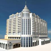 Beach Building 07 3d model