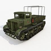 Tracteur Voroshilovets URSS 3d model