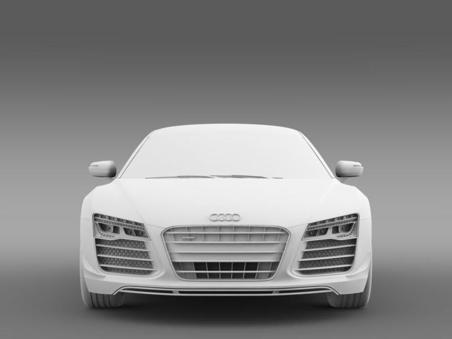 Audi R8 LMX 2014 royalty-free 3d model - Preview no. 15