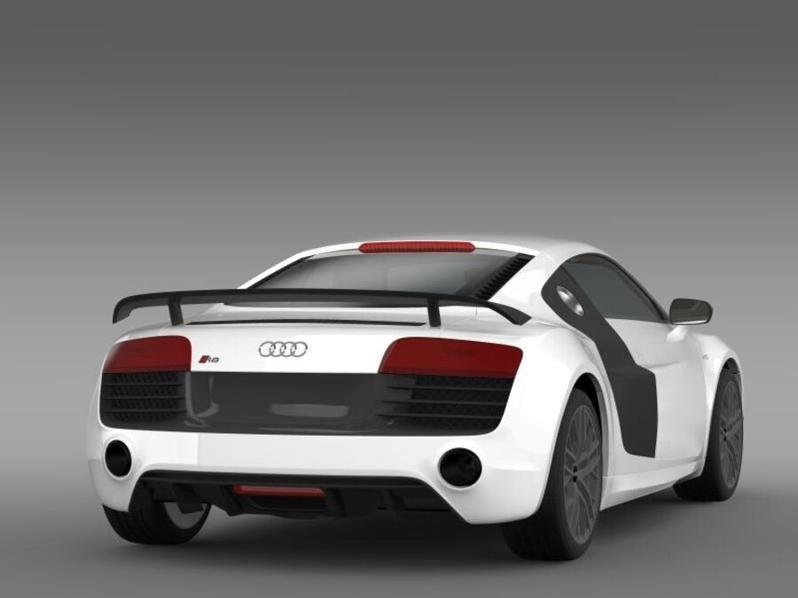 Audi R8 LMX 2014 royalty-free 3d model - Preview no. 9