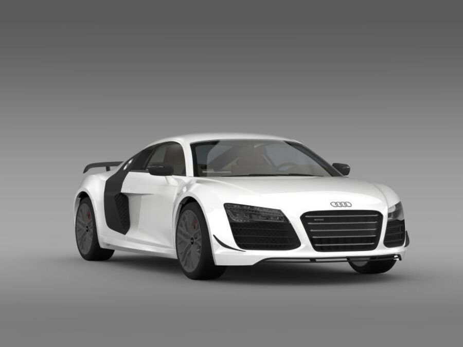 Audi R8 LMX 2014 royalty-free 3d model - Preview no. 14