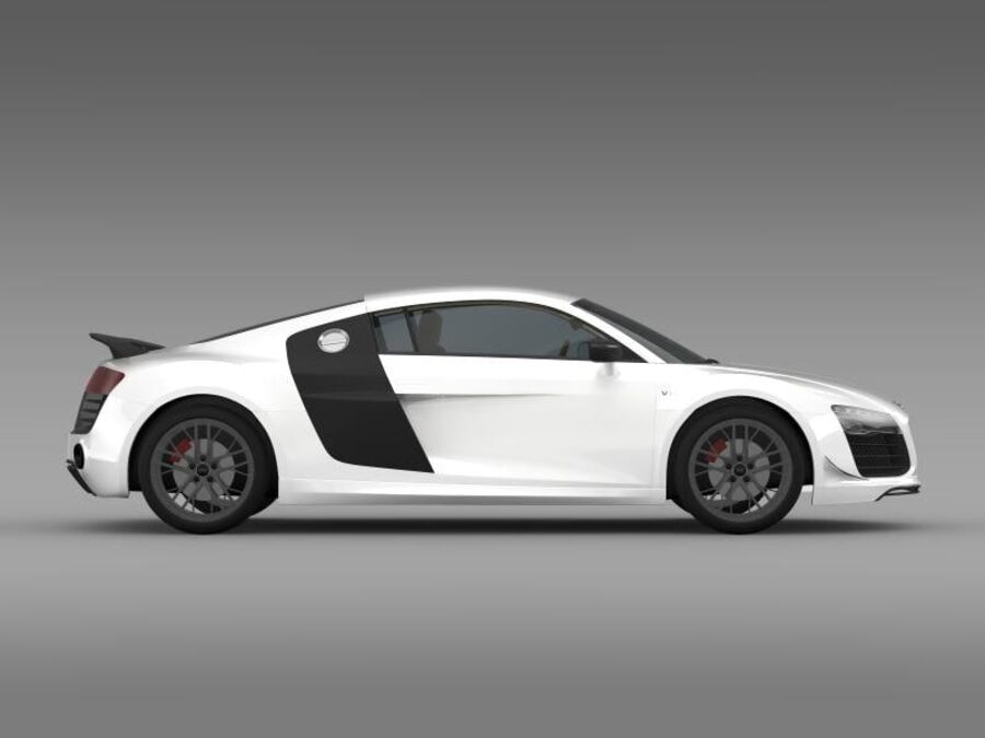 Audi R8 LMX 2014 royalty-free 3d model - Preview no. 12